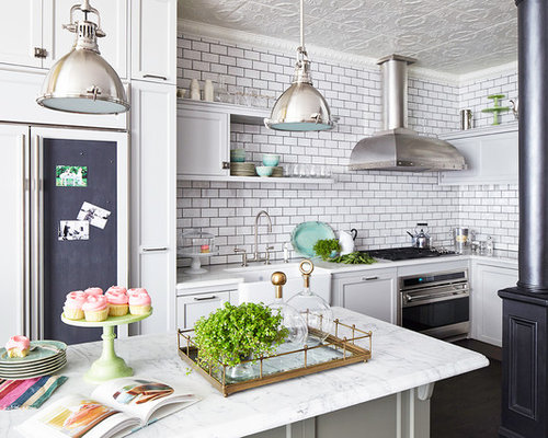 Subway tiles with dark grout houzz for Casa classica tile