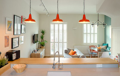 Houzz Tour: 3-Story 1970s House Gets a Cheerful Update