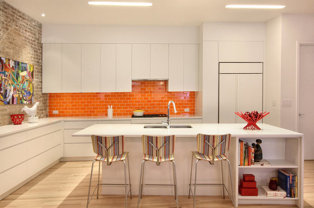 Elegant Contemporary Kitchen by Ghislaine Vi as Interior Design
