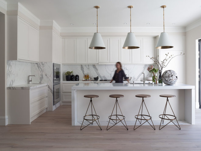 Contemporary kitchen by green couch interior design - Most beautiful white kitchens ...