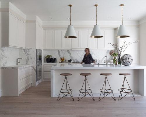 White Thassos Marble Flooring Houzz