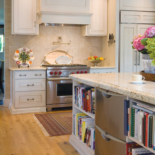 Example of a classic kitchen design in Denver with stainless steel appliances
