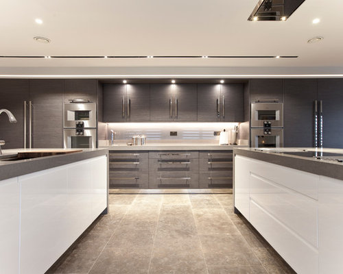 Kitchen design ideas renovations photos with metallic for Boro kitchen cabinets inc