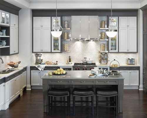 white and gray kitchen cabinets gray and white kitchens houzz 1737