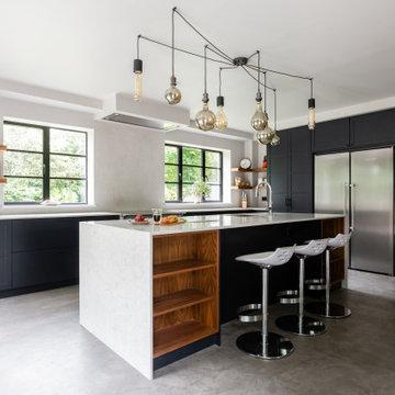 Grey Critall-Style Kitchen by Neil Norton Design