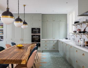 Grey Green Kitchen