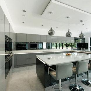 Grey High Gloss Kitchen