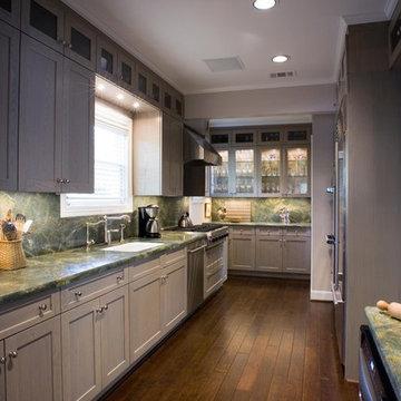 Grey Kitchen with Granite Top