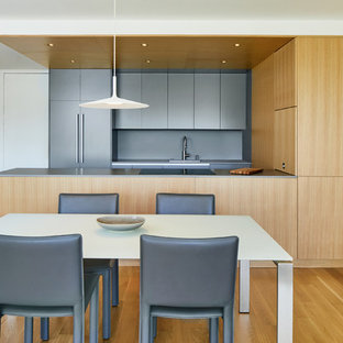 Grey / Oak Apartment - Kitchen and Dining Area