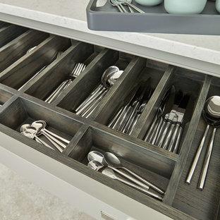 Cucina con top in quarzite Cambridgeshire - Foto e Idee per ...