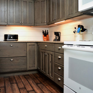 Grey, Rustic Hickory Kitchen. Haas Signature Collection