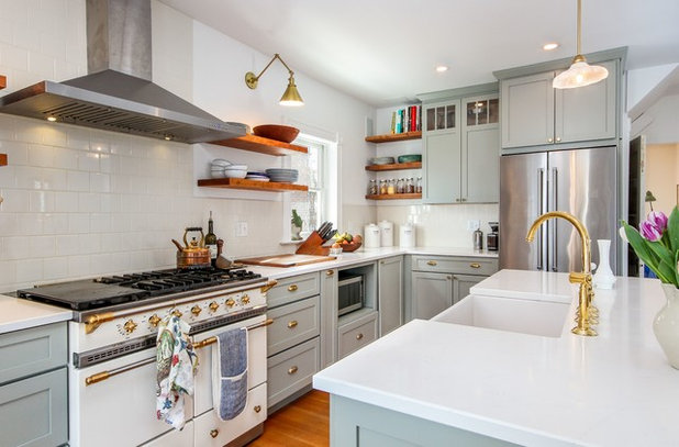 Transitional Kitchen by Bouchard-Pierce