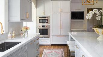 Grey White and Gold Kitchen Renovation