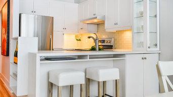 Griffintown condo kitchen