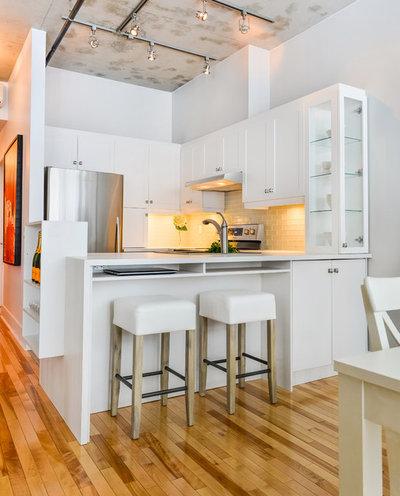Transitional Kitchen by Morisset Design