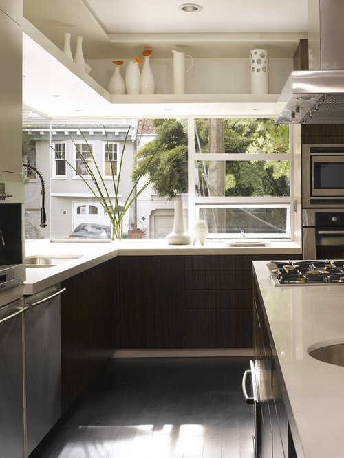 Contemporary kitchen idea in San Francisco with stainless steel appliances