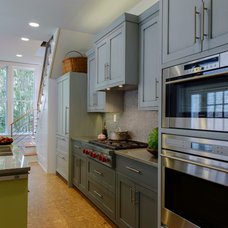Transitional Kitchen by HINGE Cabinetry & Furniture