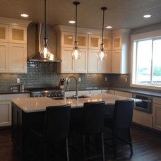Transitional Kitchen by Shawna Roy / ProSource of Spokane