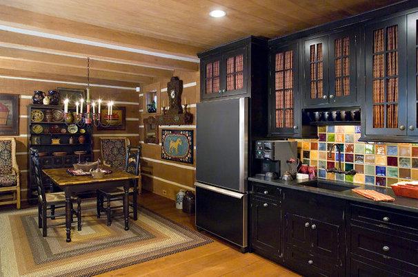Rustic Kitchen by Oak Hill Architects