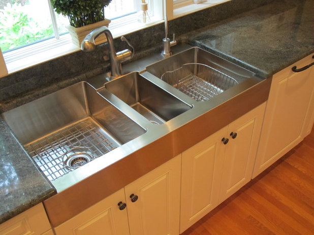 traditional kitchen by guinn construction llc - Kitchen Sink Drain Configurations