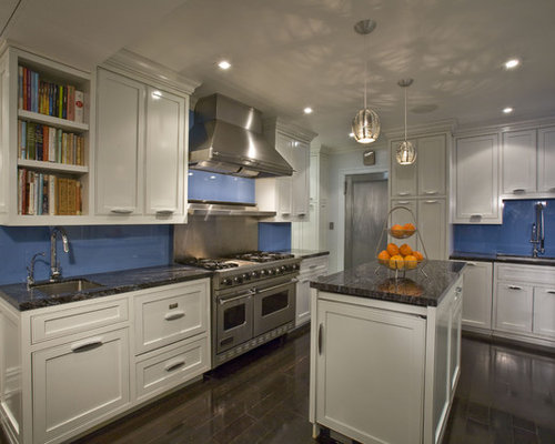 Inspiration For A Mid Sized Contemporary U Shaped Enclosed Kitchen Remodel In New York