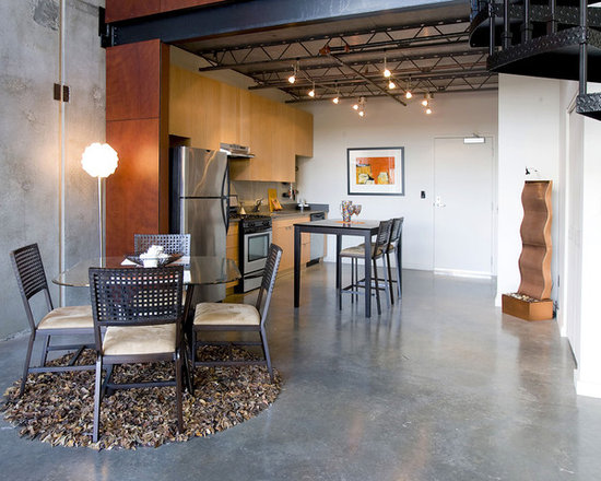 concrete floors area rug home design ideas, pictures, remodel and