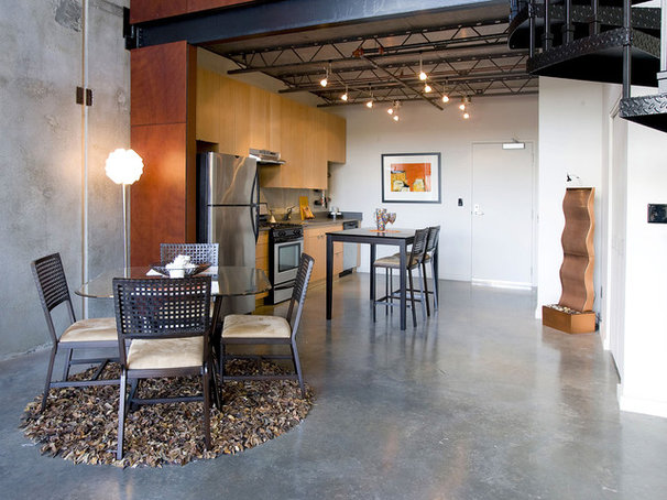 Industrial Kitchen by Pangaea Interior Design, Portland, OR