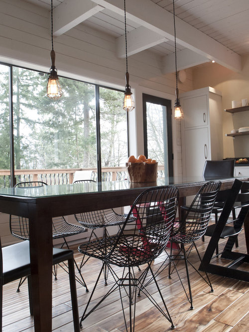 Ex&le of a trendy eat-in kitchen design in Seattle & Rejuvenation Lighting   Houzz azcodes.com