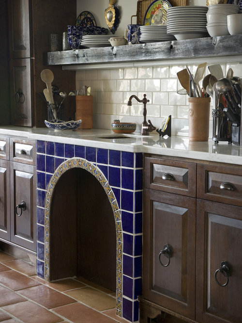 Herb accent tiles home design ideas pictures remodel and for Spanish style kitchen backsplash