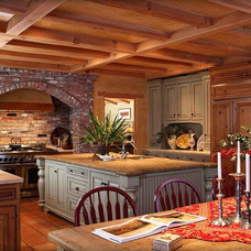Mediterranean Kitchen by James D Rogers, Builder