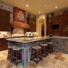 Southwestern Kitchen by Eklektik Interiors