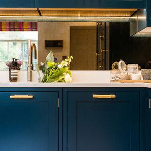 Hague Blue,  Shaker Kitchen