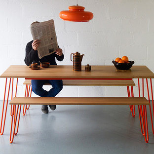 Inspiration for a retro kitchen in Cornwall.