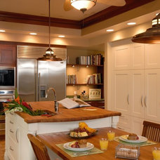 Tropical Kitchen by Archipelago Hawaii Luxury Home Designs