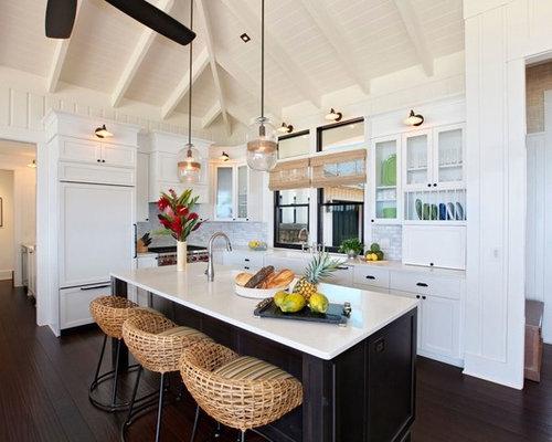 kolonialstil k che mit r ckwand aus mosaikfliesen ideen. Black Bedroom Furniture Sets. Home Design Ideas