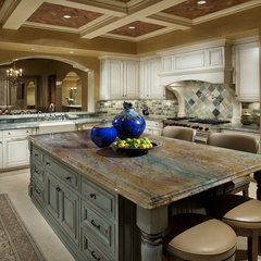 mediterranean kitchen by Hallmark Interior Design LLC