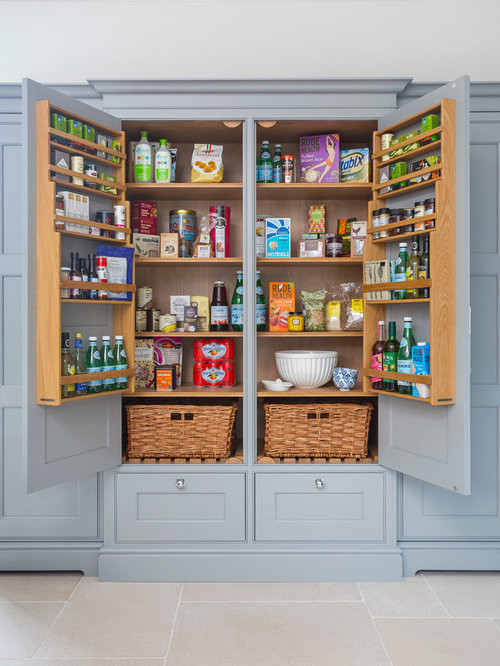 High Quality Huge Farmhouse Kitchen Pantry Designs   Example Of A Huge Country Kitchen  Pantry Design In Hampshire Part 25