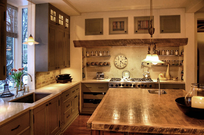 Rustic Kitchen by Michael Abraham Architecture