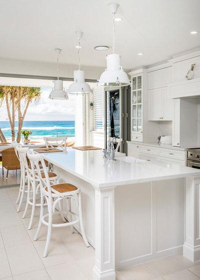 Beach Style Kitchen by Castella Fine Architectural Hardware