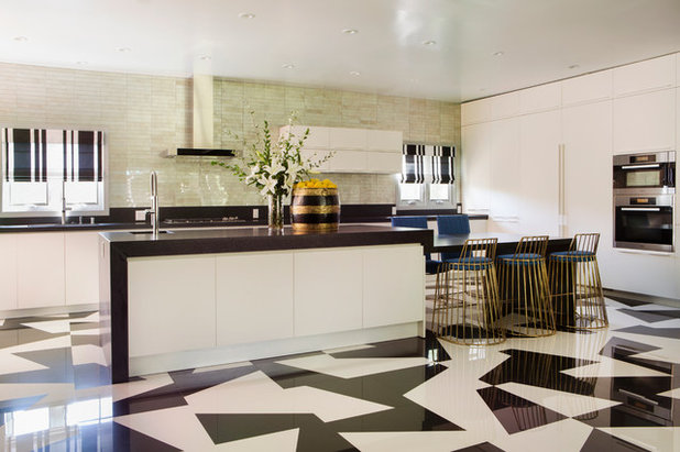 Contemporary Kitchen by Woodson & Rummerfield's House of Design
