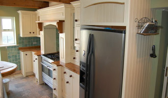 Hand painted finished doors with oiled oak worktops