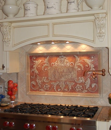 hand painted backsplash home design ideas renovations diy painted backsplash tutorial moving to the country