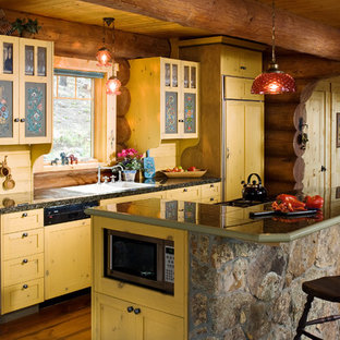 Handcrafted Full-Scribe Log Home - Kitchen