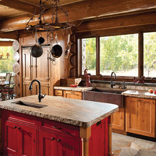 Rustic Kitchen by M.T.N Design