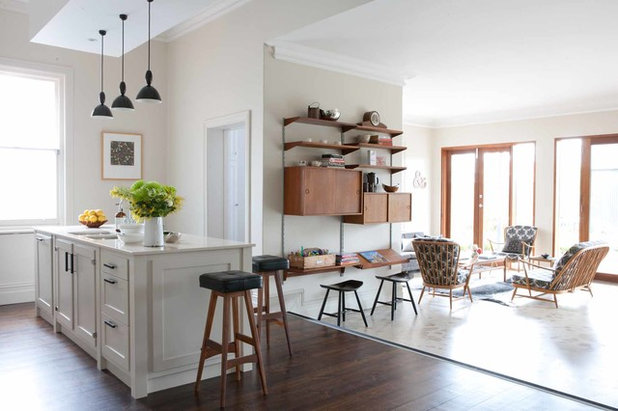 Houzz tour mid century marvel for a modern family - Vintage woonkamer meubels ...