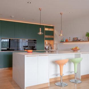 Handmade contemporary kitchen, Newbury Race Course, Berkshire
