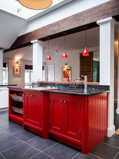 Kitchen Cabinets Red red kitchen cabinets | houzz