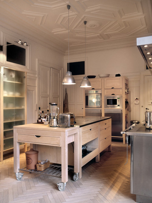 292 Industrial Kitchen Design Photos With Light Wood Cabinets
