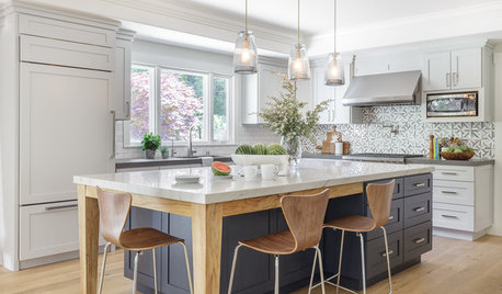 Room of the Day: Soothing Gray Cabinets Update a Modern Kitchen
