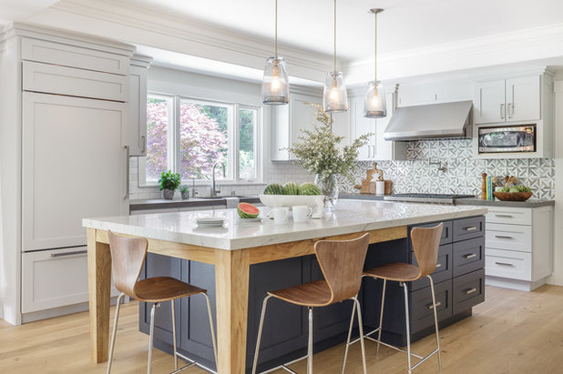 Transitional Kitchen By Kimberley Harrison Interiors